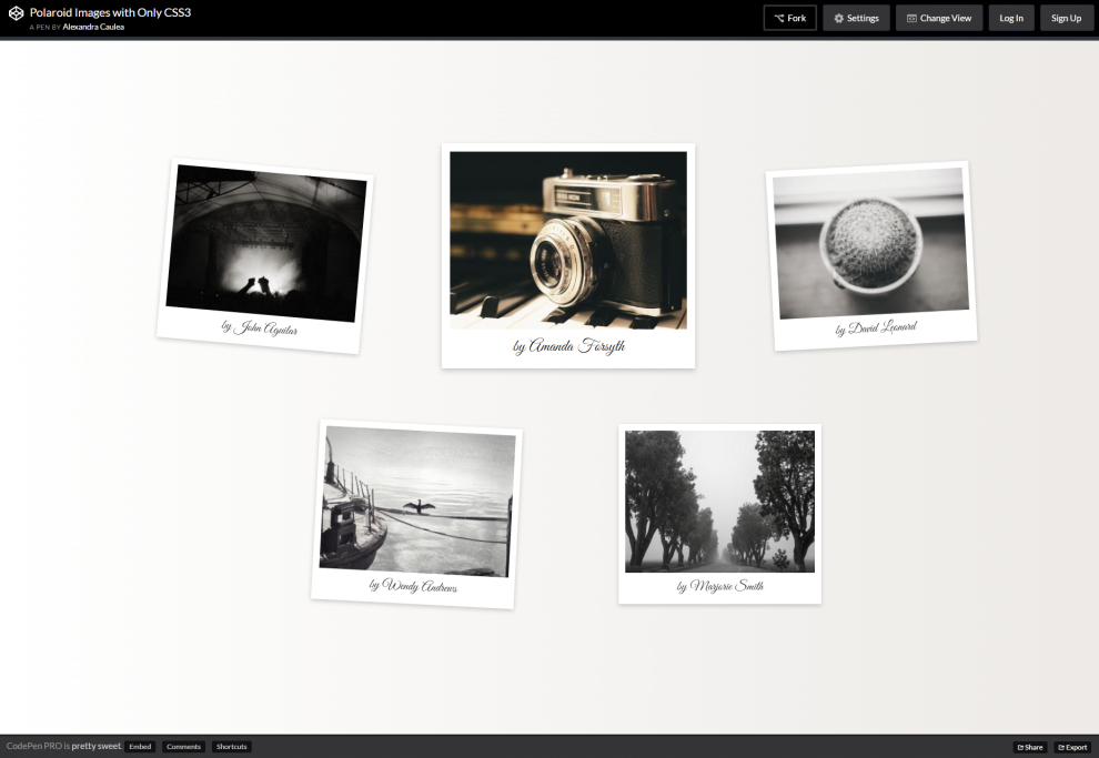 CSS3-Only Polaroid Effects