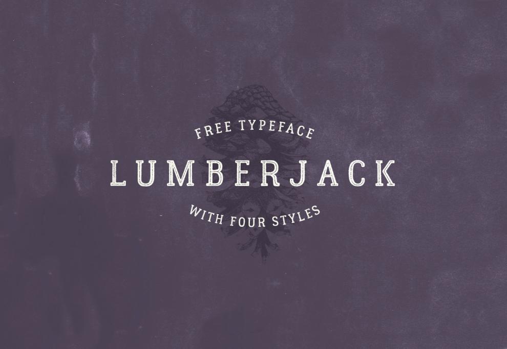 Lumberjack: 4 Style Multi-language Font