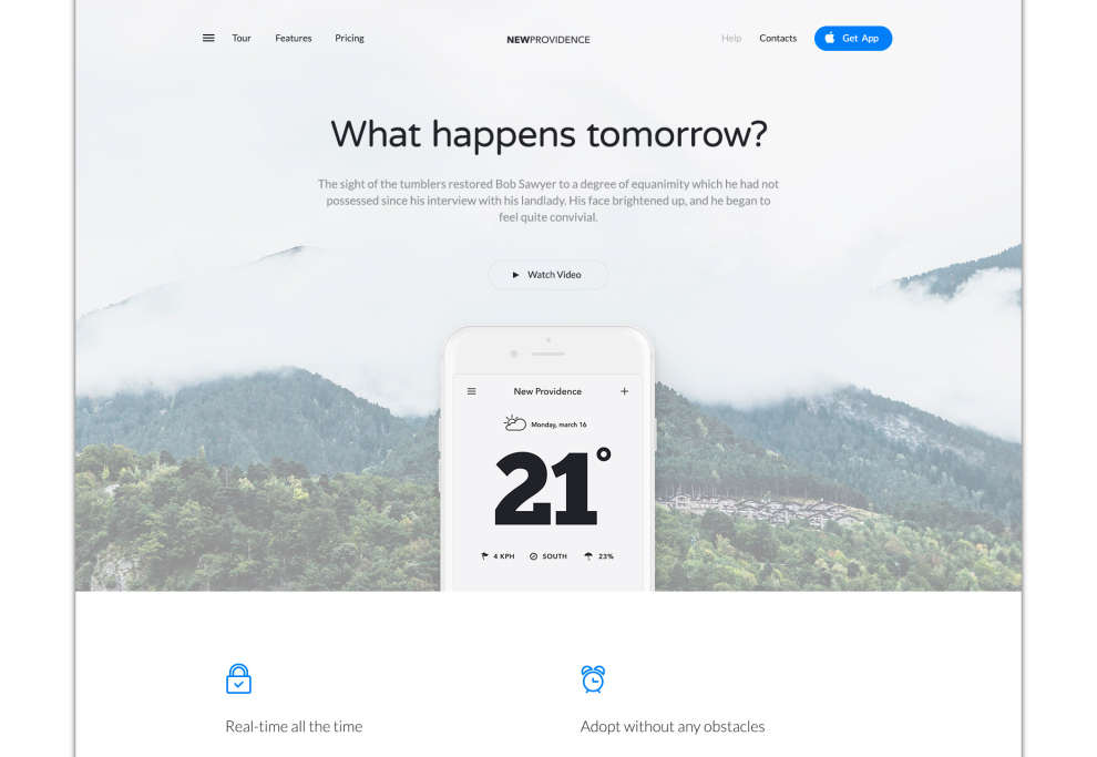 New Providence: Modern Landing Page Template