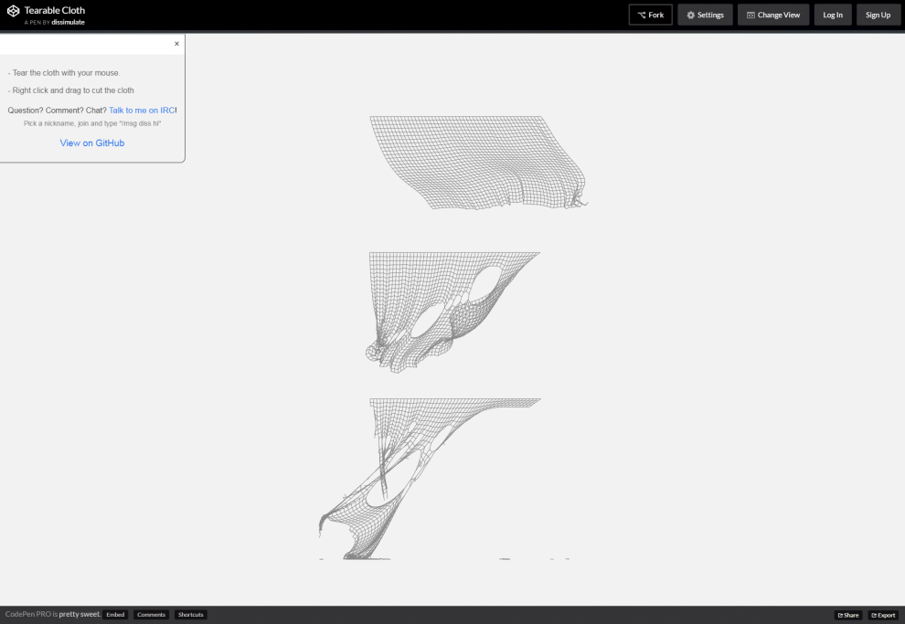 Tearable Cloth: Stunning Curtain Physics JS Snippet