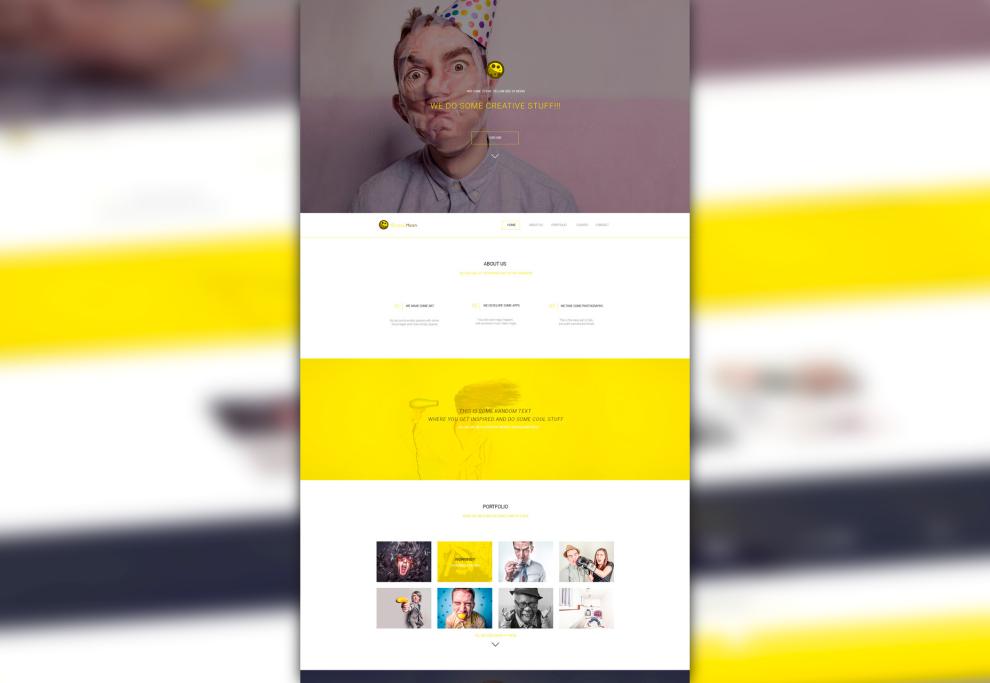 YellowMoon: Nice Agency PSD Landing Page